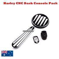 Black Deep Cut Ignition Fuel Door Dash Accessory Pack Harley FLHX FLTRX 2014 up