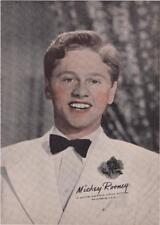Lot 3 1939 Fan Picture Print of Mickey Rooney Andy in Judge Hardy & Son MGM 7x5""
