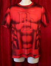 NEW Marvel Comics MEDIUM Shirt: DAREDEVIL Costume/Cosplay-Spandex/Polyester