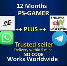PS PLUS 12 MONTHS MEMBERSHIP (5 MINUTE DELIVERY)