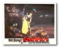 """"""" Snow White And The Seven Dwarfs """" Original 11x14 Authentic Lobby Card 1937 #3"""