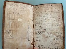 1824 Tanner Ledger Journal document Humeston Family Massachusetts leather