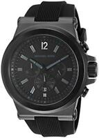 New Michael Kors Dylan Black Silicone Chronograph MK8152 Wrist Watch for Men