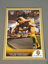 Hideo Itami 06/10 Gold Parallel #86 2016 Topps WWE Road to Wrestlemania