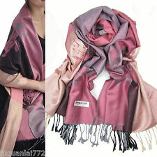 hot sell Fashion warm Soft 100%Cashme​re/Pashmina Lotus Pattern Shawl/Scarf