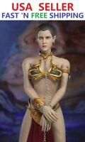 1/6 scale Princess Leia Organa Star Wars Slave Head Sculpt Outfit Set