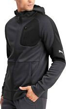 Puma evoStripe Warm Full Zip Mens Hoody Grey Stylish Gym Training Workout Hoodie