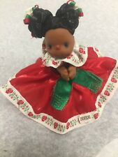 """Beautiful Mexican Zacatecas  doll -Clip-on Huggers 4"""" collectibleVintage Rare"""
