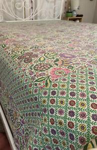 Vera Bradley Viva La Vera Reversible quilt blanket dorm comforter some flaws