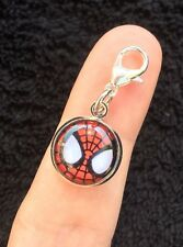Spiderman pulsera bisutería forma Clip Zip Bolsa Mascota Collar Marvel Spider Man símbolo UK