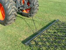 8' x 4' Long Arena Drag Chain Harrow With Drawbar And Tow Ring