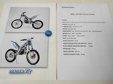 Prospectus Catalogue Brochure Moto Canziani TX 50 cc de 2002