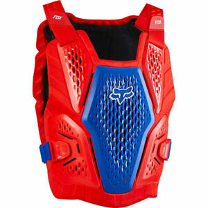 New Fox Racing Raceframe Impact Blue/Red CE L/XL Chest Protector Roost Guard MX