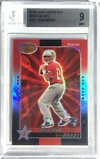 2000 Leaf Certified TOM BRADY RC Mirror Red Refractor ROOKIE SSP #207 BGS 9 Mint