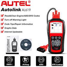 Autel AutoLink AL619 Auto OBD2 Code Reader ABS SRS Airbag Engine Check Scanner