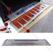 3X Rear Bumper Cargo Protector Sill Plate Trim Fit For Toyota Land Cruiser LC200