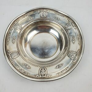 Wallace Sterling Rose-Point Silver Bowl 6.5 Inches 142.7 Grams