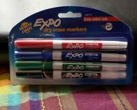 Expo Low Odor Ink Dry Erase Pen Style Markers, 4 Intense Colored Markers #86674