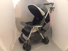 Peg Perego Aria Single Seat Stroller - Lightweight & Foldable - Gray