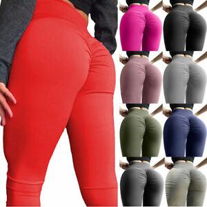 Women Push Up Yoga Pants High Waist Gym Leggings Shark Fitness Sports Trousers