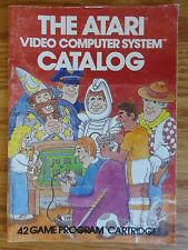 Vtg 1981 The Atari Video Computer System Catalog Video Game Booklet Rev A 2600