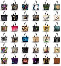 Women's Foldable Tote Shoulder Portable Bag Shopping School Handbag With Zipper