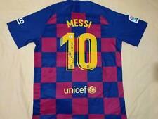 Lionel Messi auto FC Barcelona jersey GAI COA