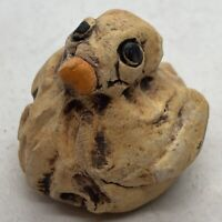Vintage Studio Art Pottery Hand Painted Mini Yellow Duckling
