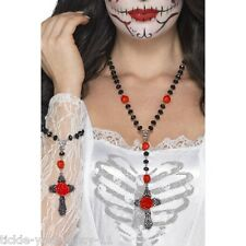 Women's day of the dead rosary bead set déguisement halloween accessoire