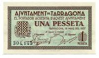 Ayuntamiento de TARRAGONA 1 Peseta  @ Tarragones - Tarragona  @ Sin circular @