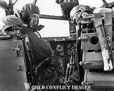 RAF WW2 Short Stirling Heavy Bomber Cockpit Pilots 8x10 Photo WWII