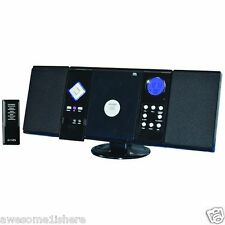 Wall Mountable Stereo System Compact Am/Fm Sound Mp3 Remote Cd Dj Speakers Music