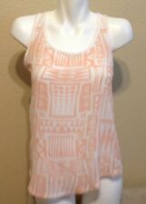 FOREVER 21 Ladies Racer back Tank Top Peach White Size M Excellent Condition