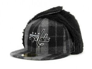Washington Capitals NHL Buffalo Dogear DownFlap Plaid Flat Bill Brim Hat Cap Lid