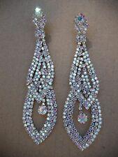 Ab crystal earrings ballroom latin dance competition performance Fitness Bikini