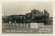 RPPC NY Syracuse New York Central Railroads First Train NYS Fair 1921