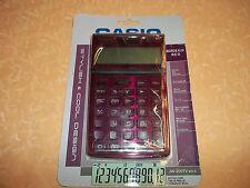 CALCOLATRICE CASIO JW 200 TV RD S  COLORE ROSSO BORDEAUX    cod.4484