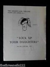 LOCK UP YOUR DAUGHTERS - GOLDEN LANE THEATRE - KENNETH WIRDHAM - 1971