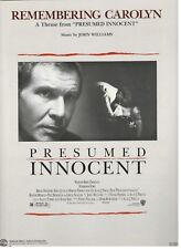 "JOHN WILLIAMS ""REMEMBERING CAROLYN"" SHEET MUSIC-PRESUMED INNOCENT-FORD-RARE-NEW!"