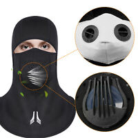 Balaclava Outdoor Sport Cycling Full Face Shield Windproof Anti Dust With Filter
