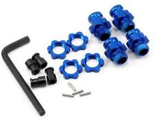 Traxxas TRA 5853X Slash Stampede Rustler 17mm Blue Aluminum Wheels Adapters New
