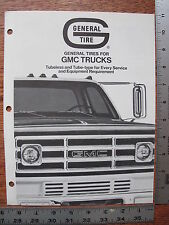 Original 1973 73 General Tires for GMC Commercial Truck Dealer Sales Brochure