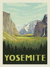 National Parks Poster Panel Yosemite, 36