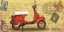 Retro Vespa style Shabby Chic   Wall Plaque Sign Christmas Birthday etc Gift