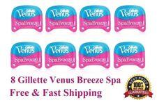 **8 Gillette Venus Breeze Spa Razor Blades Refill Cartridges Shaver Women USA 4