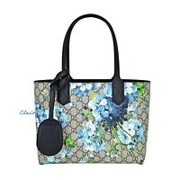 NWT Authentic Gucci Small Reversible GG Supreme & Leather Blooms Tote