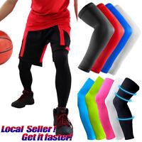 Compression Elbow Support Leg Arm Sleeve Knee Brace Anti Sun UV For Men Women AP