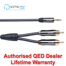 QED rendimiento audio Grafito J2P 3.5mm Mini Jack a 2 Rca Aux Cable Lead 1.5m