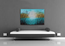 Turquoise Landscape Painting Modern Wall Art - Nandita Albright