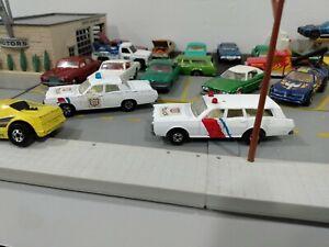 Vintage 1971 Matchbox Superfast  Mercury Police Car  cruiser & Station Wagon lot